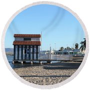 The Boat House Round Beach Towel