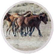 The Boys In The Band, No. 2 Round Beach Towel by Belinda Greb