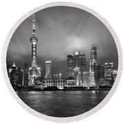 The Bund - Shanghai, China Round Beach Towel