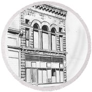 The Capital Transfer And Sands Brothers Building Helena Montana Round Beach Towel