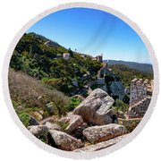 The Castle Of Moors Round Beach Towel