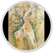 The Cherry Tree Study - 1891 - Musee Marmottan France Round Beach Towel