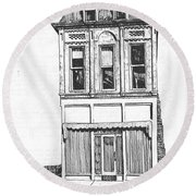 The Colwell Building Helena Montana Round Beach Towel