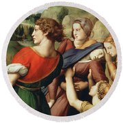 The Deposition, Detail, 1507 Round Beach Towel
