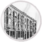 The Diamond Block Helena Montana Round Beach Towel