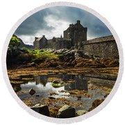 The Eilean Donan Castle Round Beach Towel