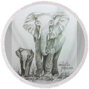 The Elephant Round Beach Towel