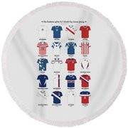 The Evolution Of The Us World Cup Soccer Jersey Round Beach Towel