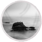 The Feeling Of Loneliness. Round Beach Towel