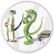 The Fishing Tale Round Beach Towel