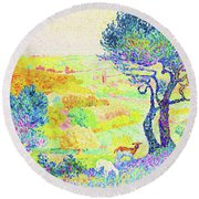 The Full Of Bormes - Digital Remastered Edition Round Beach Towel