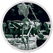 The Gardener 2 Round Beach Towel