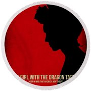 The Girl With A Dragon Tattoo Round Beach Towel