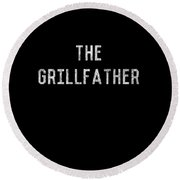 The Grillfather Vintage Round Beach Towel
