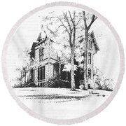 The Hauser Mansion, Helena, Montana Round Beach Towel