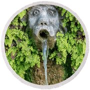 The Hundred Fountains Round Beach Towel