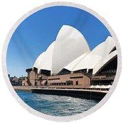 The Iconic Sydney Opera House.  Round Beach Towel