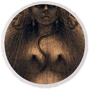 The Idol Of Perversity, 1891 Round Beach Towel