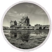 The Island Castle Round Beach Towel