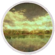 The Lake - Panorama Round Beach Towel