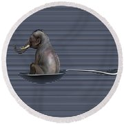 The Looming Addict  Round Beach Towel