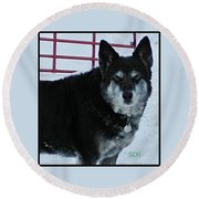 The Magnificent Guardian Of The Gate Round Beach Towel