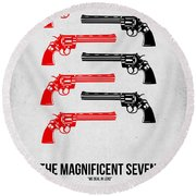 The Magnificent Seven Round Beach Towel