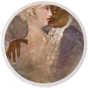 The Mulatto And The Sculpturesque White Woman 1913 Round Beach Towel