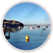 The Mylor Dolphin Round Beach Towel