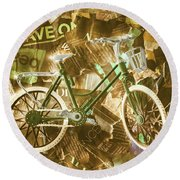 The News Cycle Round Beach Towel