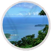 The North Bay As Seen From Mount Harriett Round Beach Towel