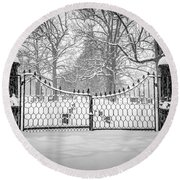 The North Gates Round Beach Towel by Kendall McKernon