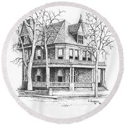 The Old Governors Mansion,  Helena, Montana Round Beach Towel