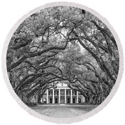 The Old South Version 3 Bw Round Beach Towel