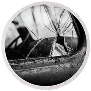 The Old Truck Round Beach Towel