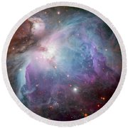 The Orion Nebula Round Beach Towel