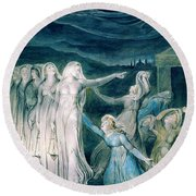 The Parable Of The Wise And Foolish Virgins - Digital Remastered Edition Round Beach Towel