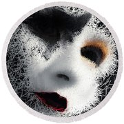 The Phantom Of The Arts Round Beach Towel by ISAW Company
