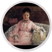 The Pink Dress Also Known As Poop - 1870 - Pc Round Beach Towel