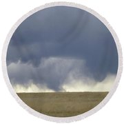 The Plains In May Round Beach Towel