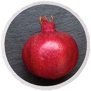 The Pomegranate Fruit Round Beach Towel