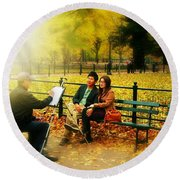 The Portraiture Round Beach Towel
