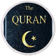 The Quran Round Beach Towel