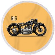 The R16 Motorcycle Round Beach Towel