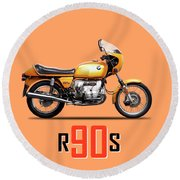 The R90s Motorcycle Round Beach Towel