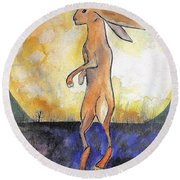 The Rabbit Prince Round Beach Towel