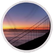 The Rising Of Joy- Round Beach Towel by JD Mims