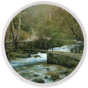 The River Psirzha Round Beach Towel