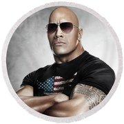 The Rock Dwayne Johnson I I Round Beach Towel