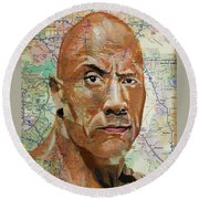 The Rock From California Round Beach Towel